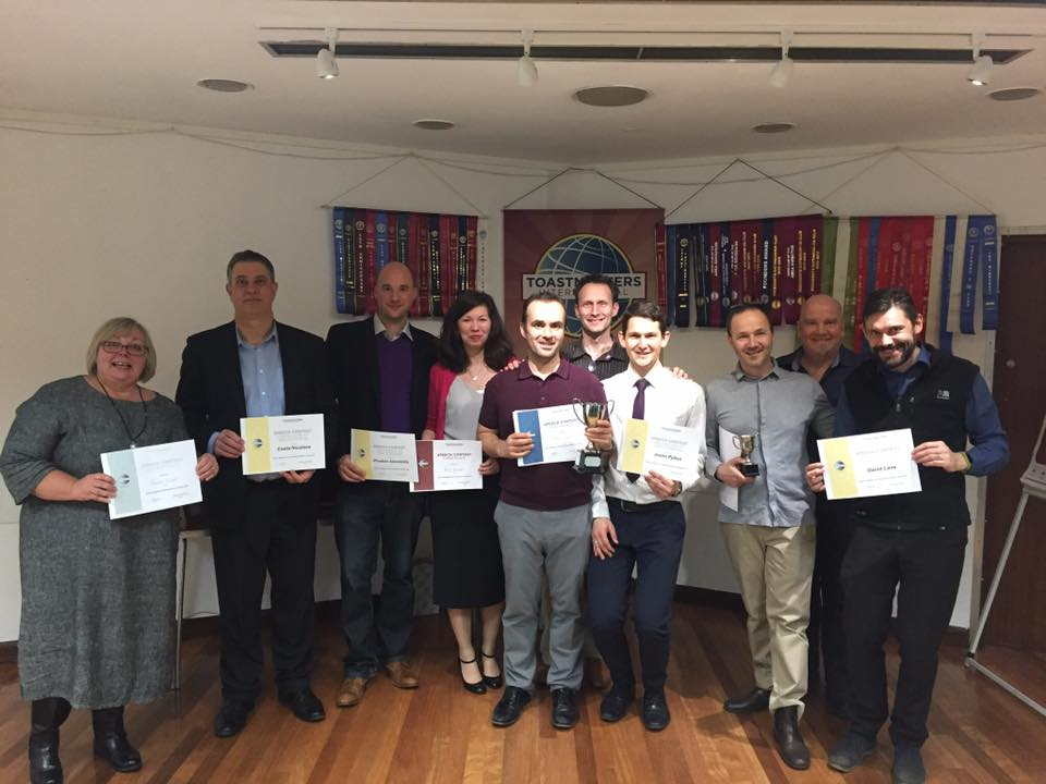 Epsom Speakers Contest Night – 5th March 2018